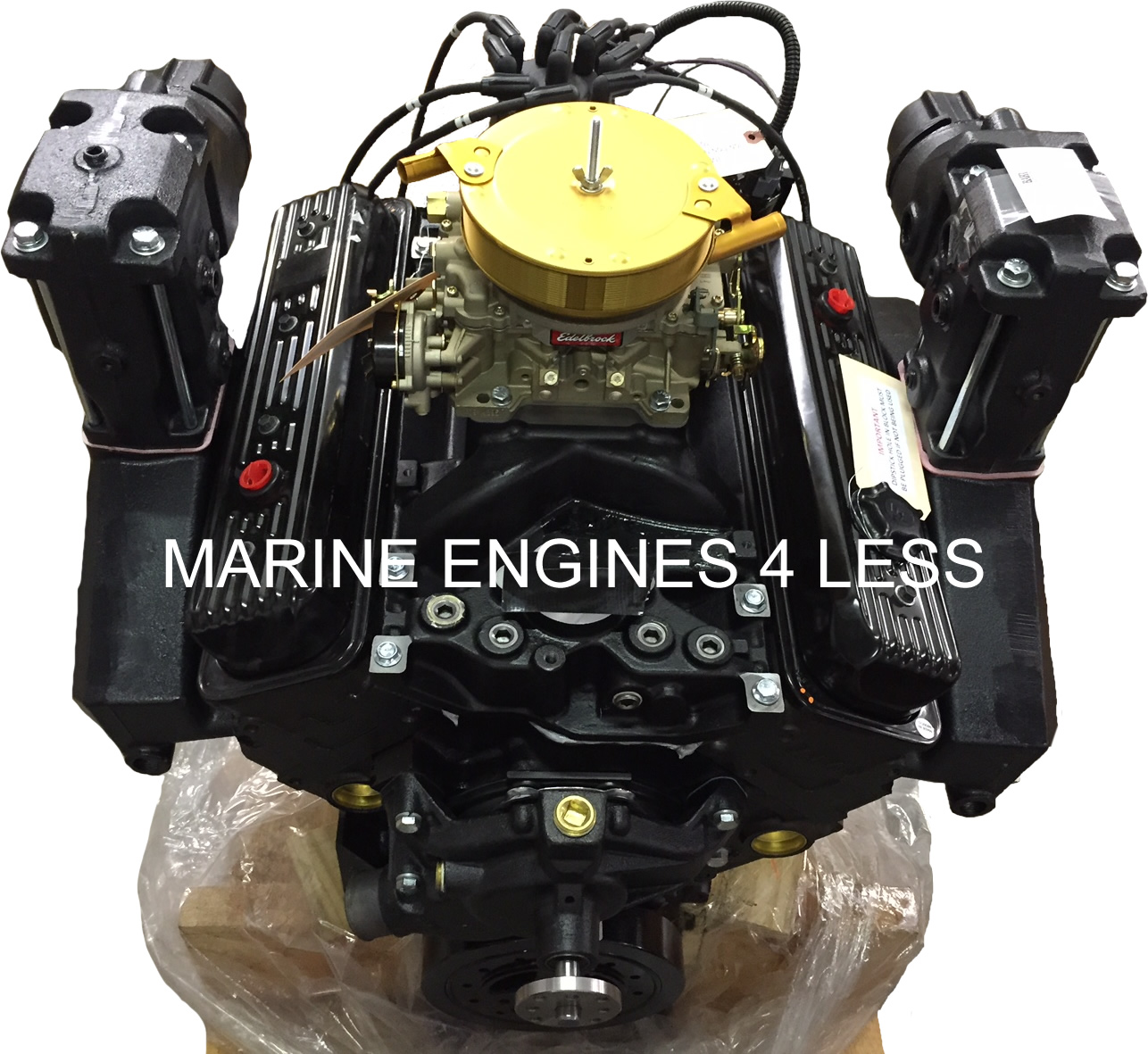 Remanufactured 5 7L Vortec Marine Base Engine with Exhaust (replaces years  1996-present)